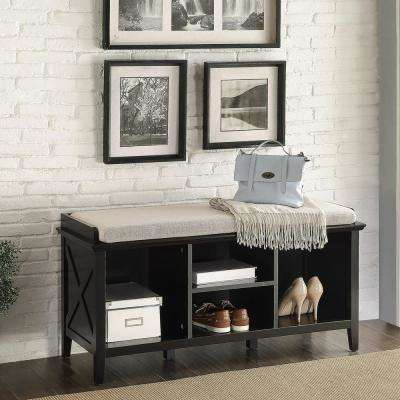 Callie Black Storage Bench