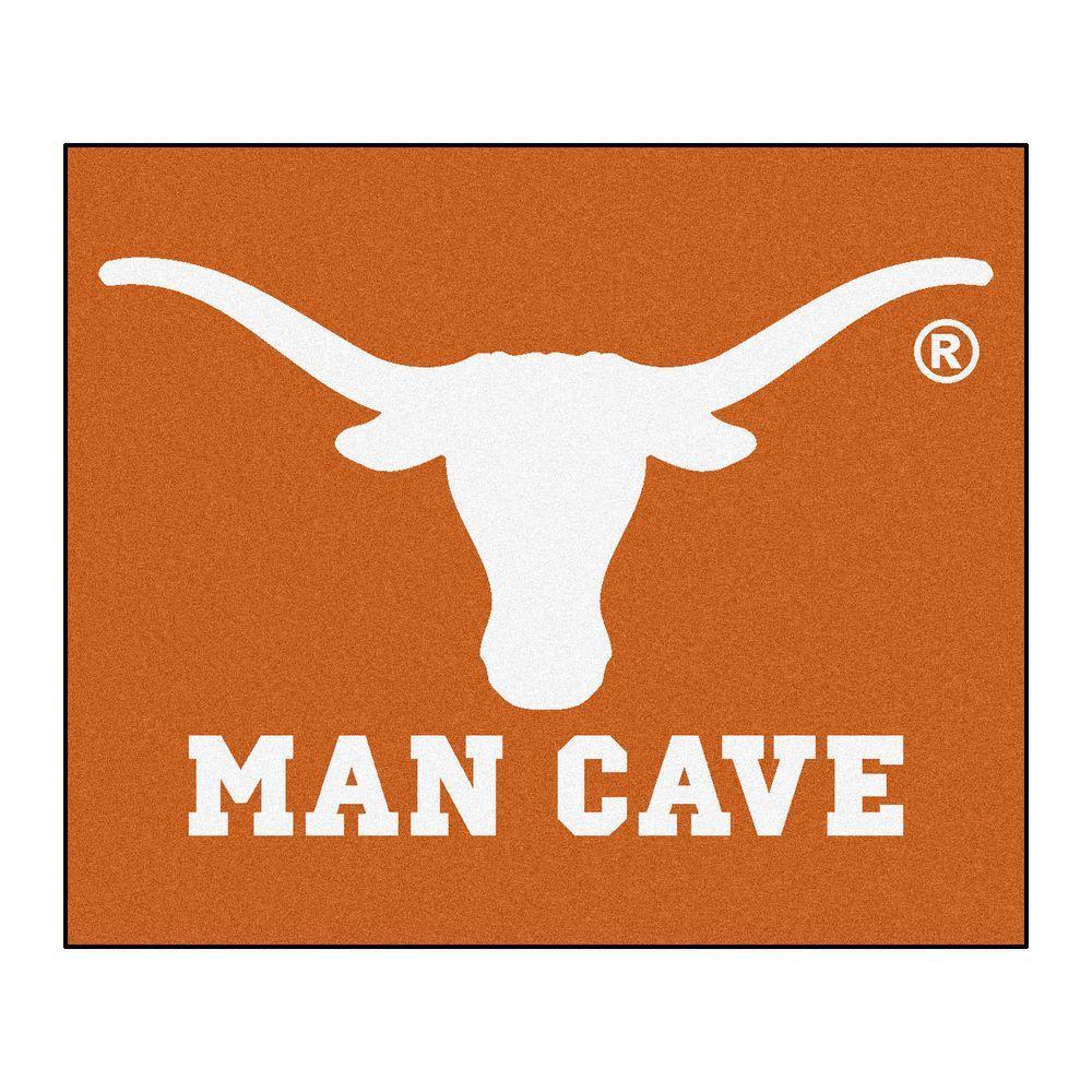University of Texas Orange Man Cave 5 ft. x 6 ft. Area Rug