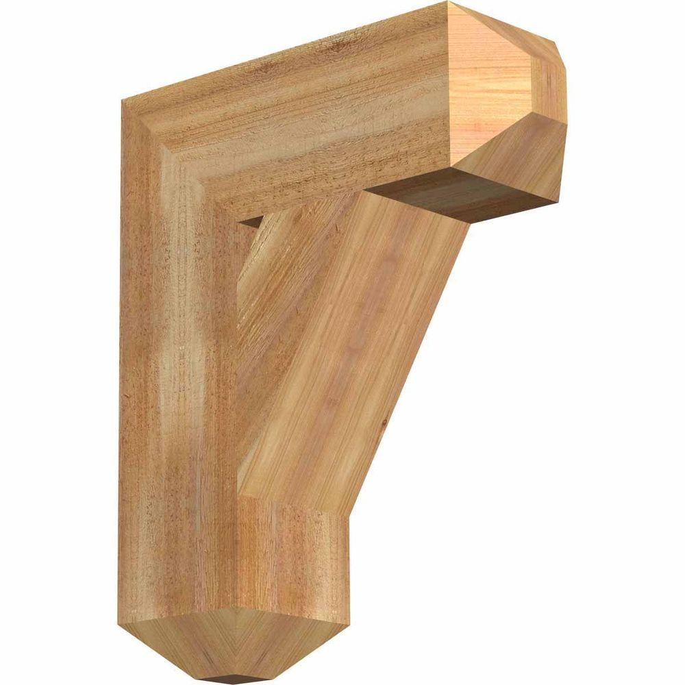 Ekena Millwork 6 in. x 22 in. x 18 in. Western Red Cedar Traditional Craftsman Rough Sawn Bracket