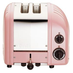 New Gen 2-Slice Petal Pink Wide Slot Toaster with Crumb Tray