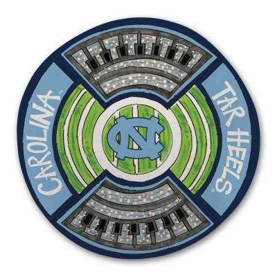 North Carolina UNC Football Stadium Melamine Platter