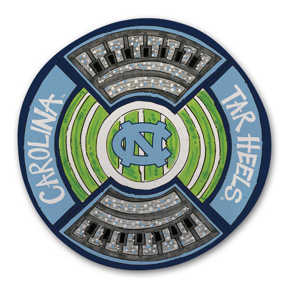 Magnolia Lane North Carolina UNC Football Stadium Melamine Platter 20851