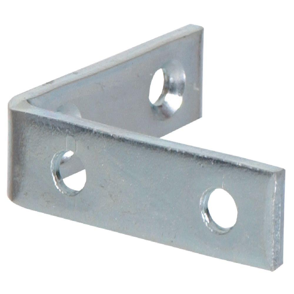 Hardware Essentials 3-1/2 x 3/4 in. Zinc Plated Corner Brace (5-Pack)