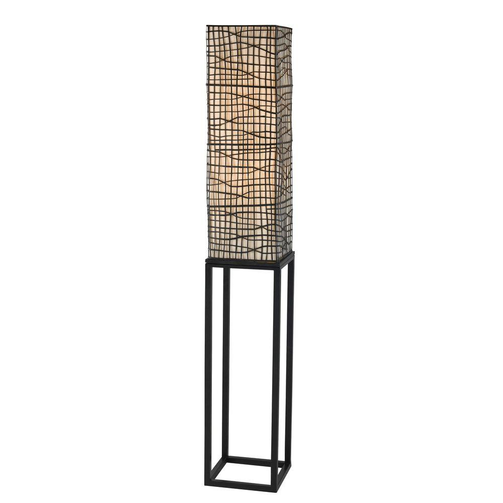 Kenroy Home Fortress 60 in. Bronze Floor Lamp
