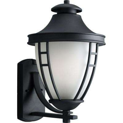Fairview Collection 1-Light Outdoor Textured Black Wall Lantern
