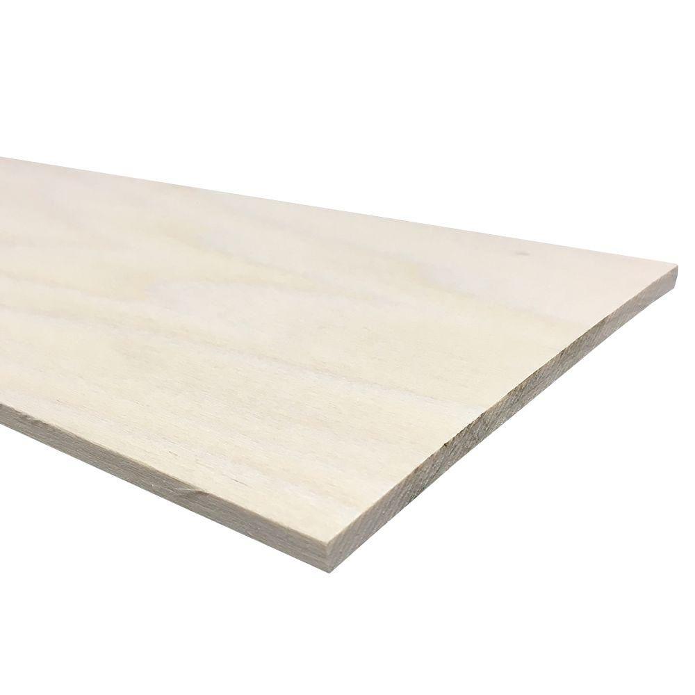 1/4 in. x 6 in. x 4 ft. S4S Poplar Board