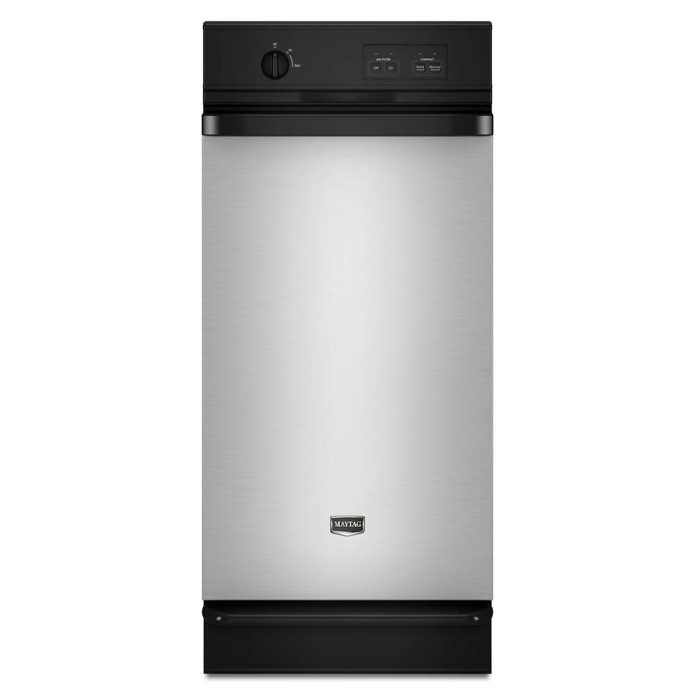 Maytag 15 in. Built-In Trash Compactor in Stainless Steel-DISCONTINUED