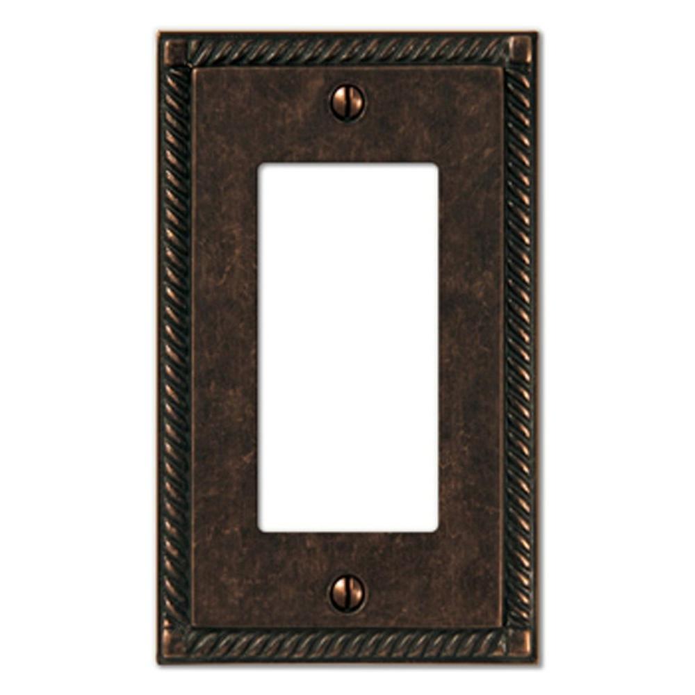 Bronze 1-Gang Decorator/Rocker Wall Plate (1-Pack)