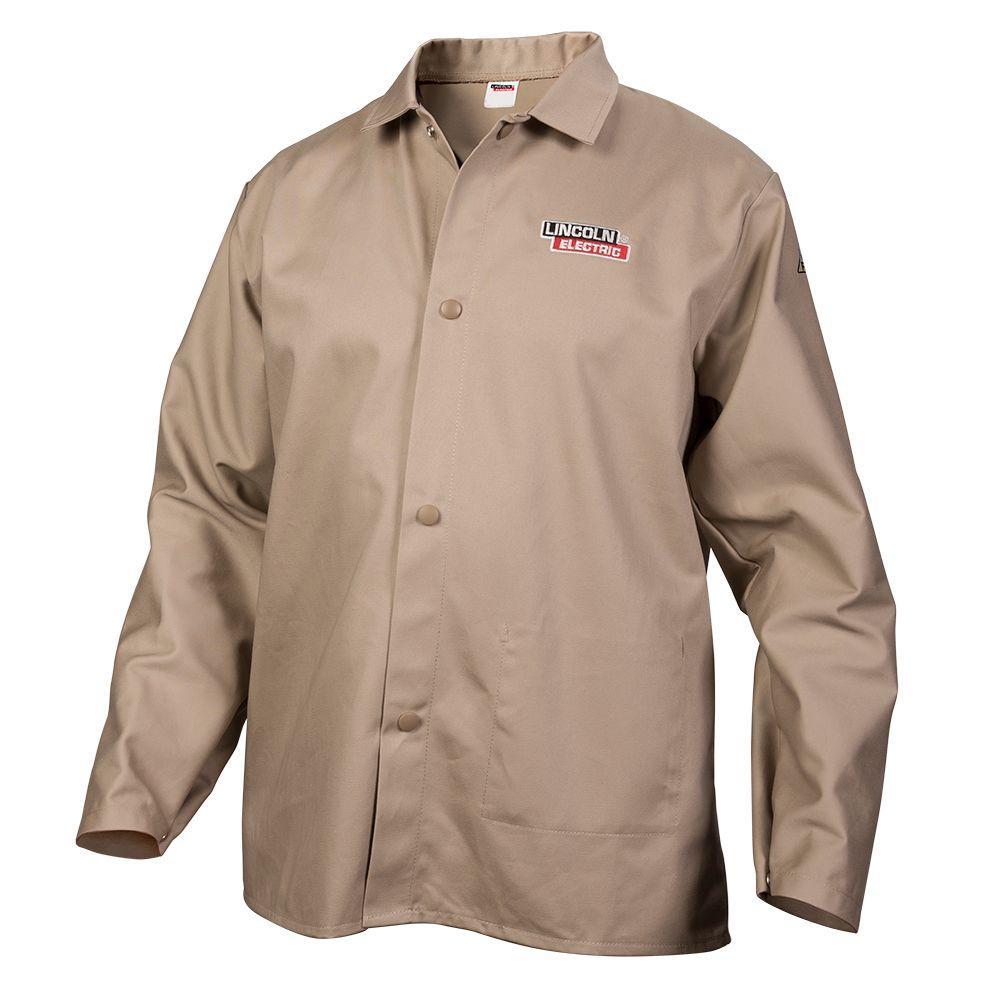 Fire Resistant XX-Large Khaki Cloth Welding Jacket