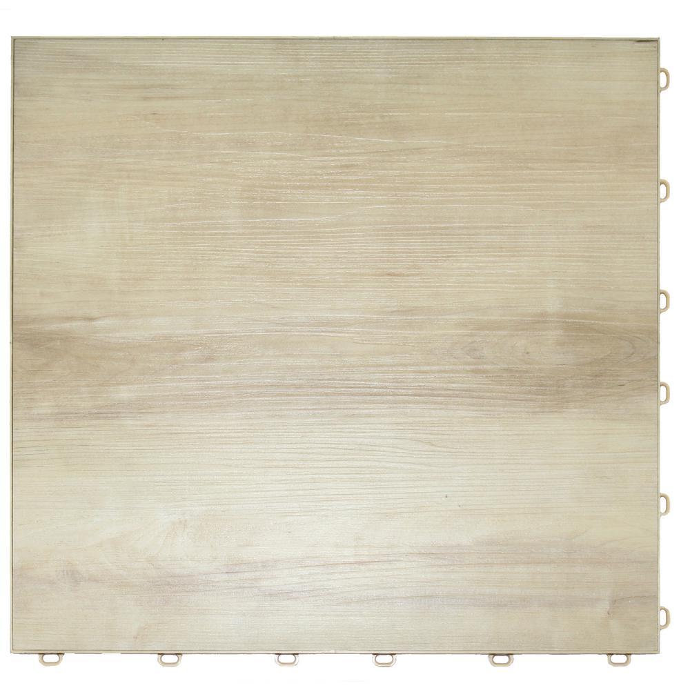 15.75 in. x 15.75 in. Light Maple Vinyl Trax 9-Tile Modular Flooring Pack (15.5 sq. ft. / case)