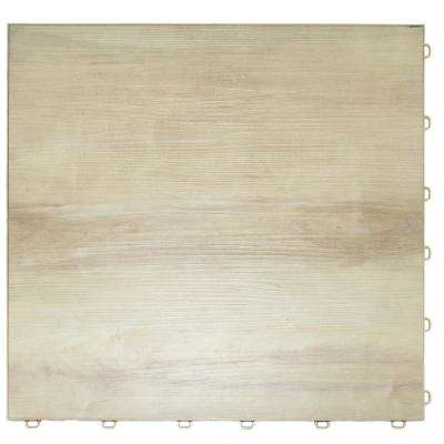 Light Maple Vinyl Trax 9 Tile Modular Flooring