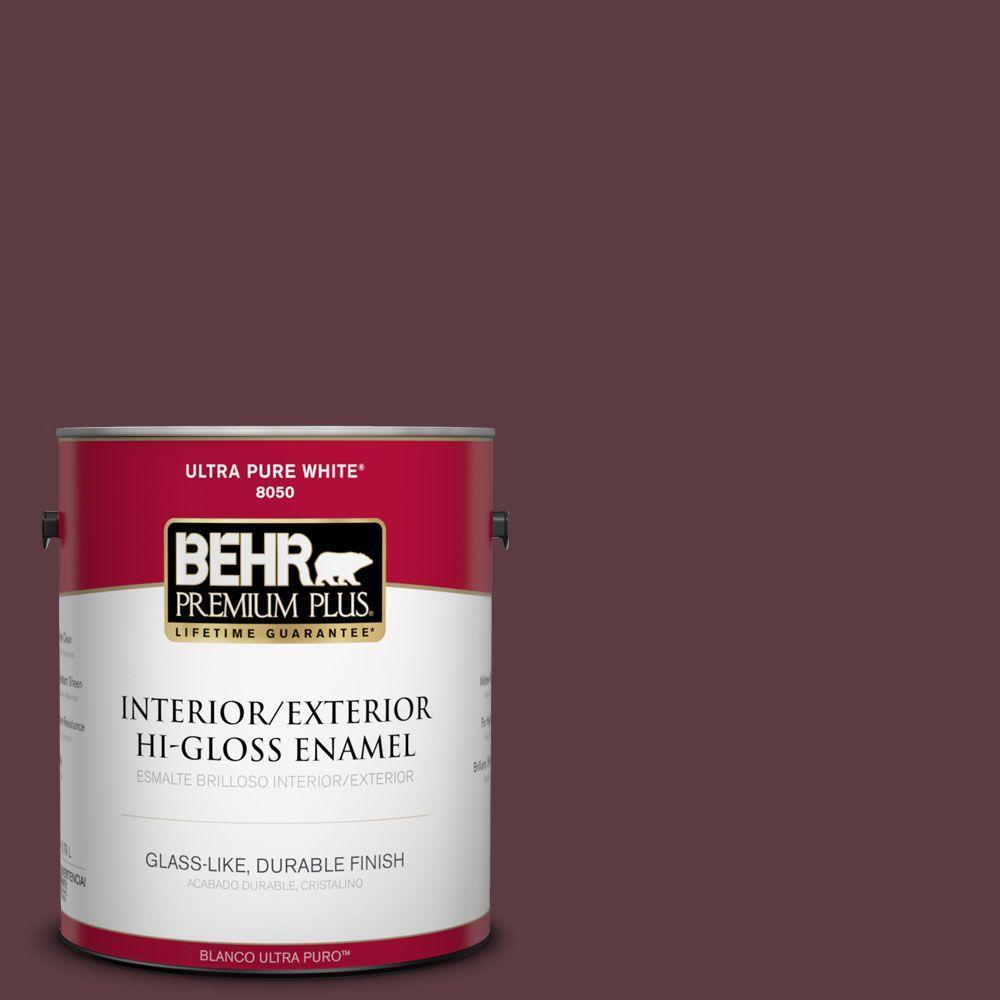 1-gal. #110F-7 Deep Garnet Hi-Gloss Enamel Interior/Exterior Paint
