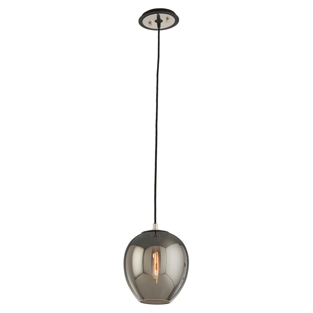Troy Lighting Odyssey 1-Light Carbide Black and Polished Nickel Pendant