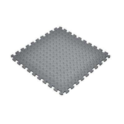 Gray 24 in. x 24 in. Foam Interlocking Gym Flooring (24 sq. ft.) (6-Pack)