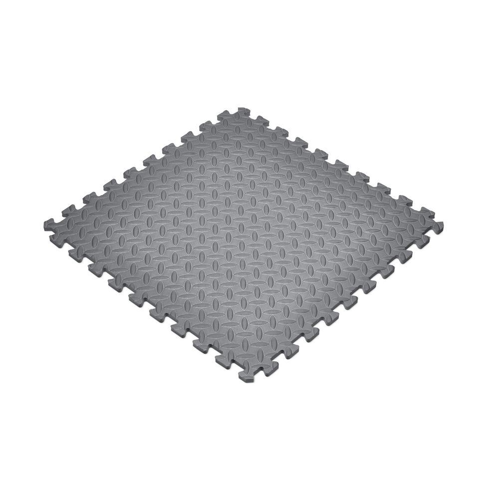 Gray 24 in. x 24 in. Foam Gym Flooring (24 sq. ft.)