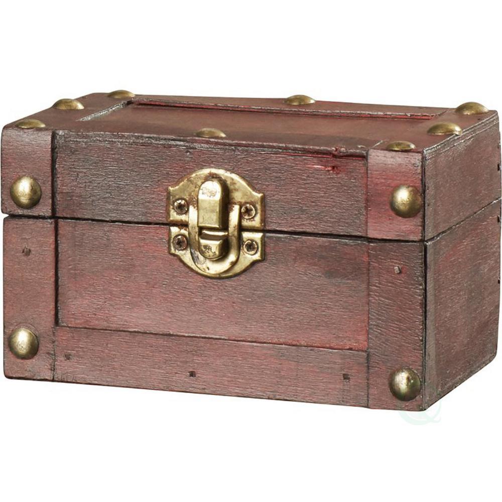 5 in. W x 3 in. D x 3 in. H Wood Small Mini Treasure Chest