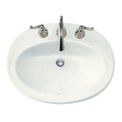 Piazza Self-Rimming Bathroom Sink in White