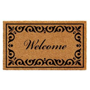 Home & More Breaux Welcome 36 inch x 72 inch Door Mat by Home & More
