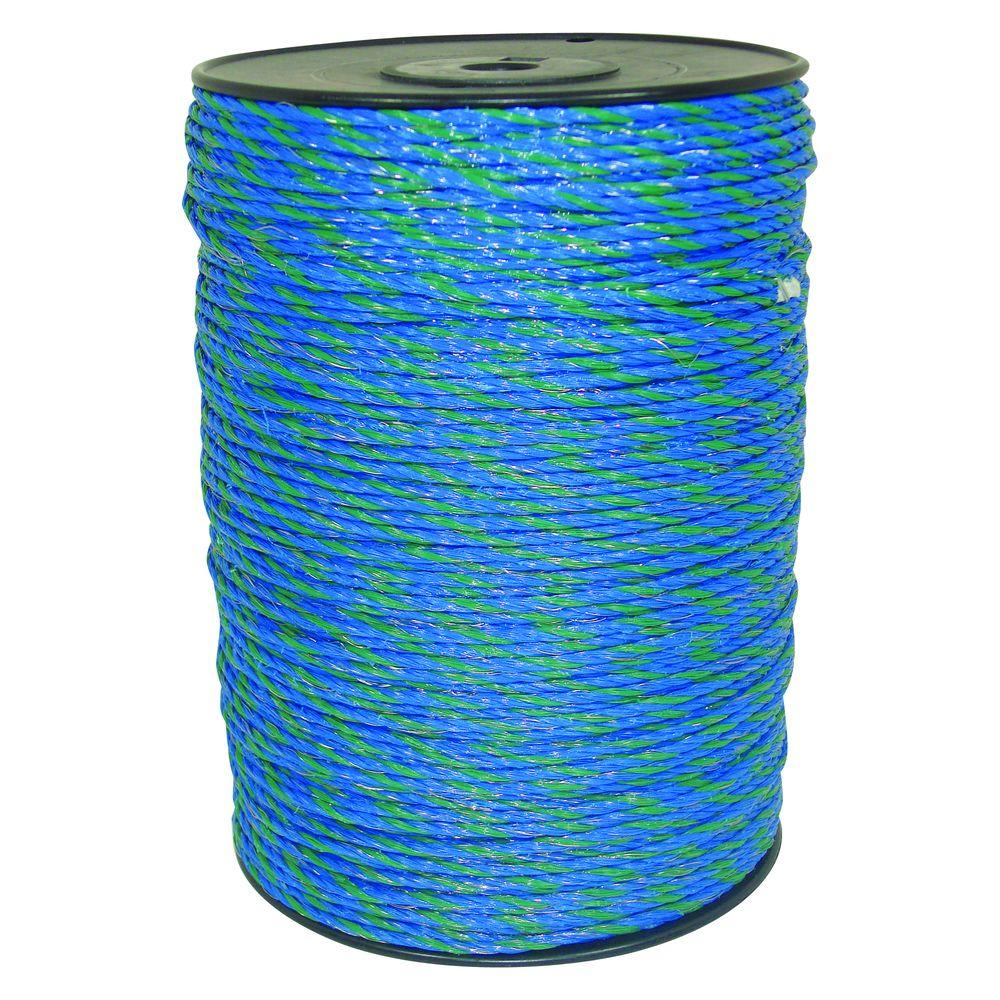 Field Guardian 1640 ft. Blue/Green Polywire-631762 - The Home Depot