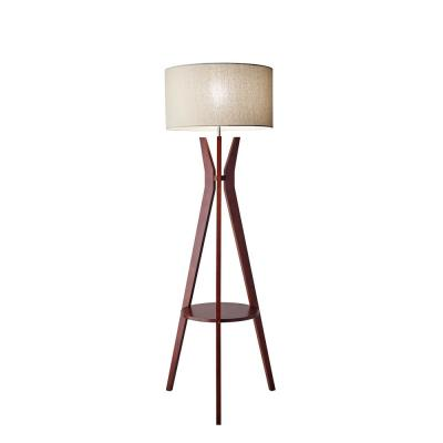 60 in. Beige Bedford Shelf Floor Lamp