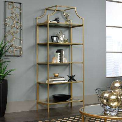 International Lux Satin Gold Bookcase