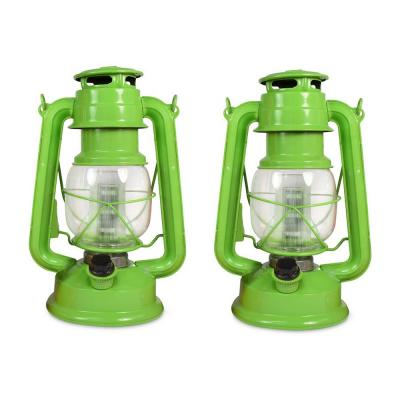 Tropical Collection Fresh Lime Battery Operated LED Vintage Lantern (2-Pack)