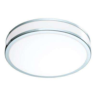 Palermo 2 100-Watt Chrome Integrated LED Semi-Flushmount