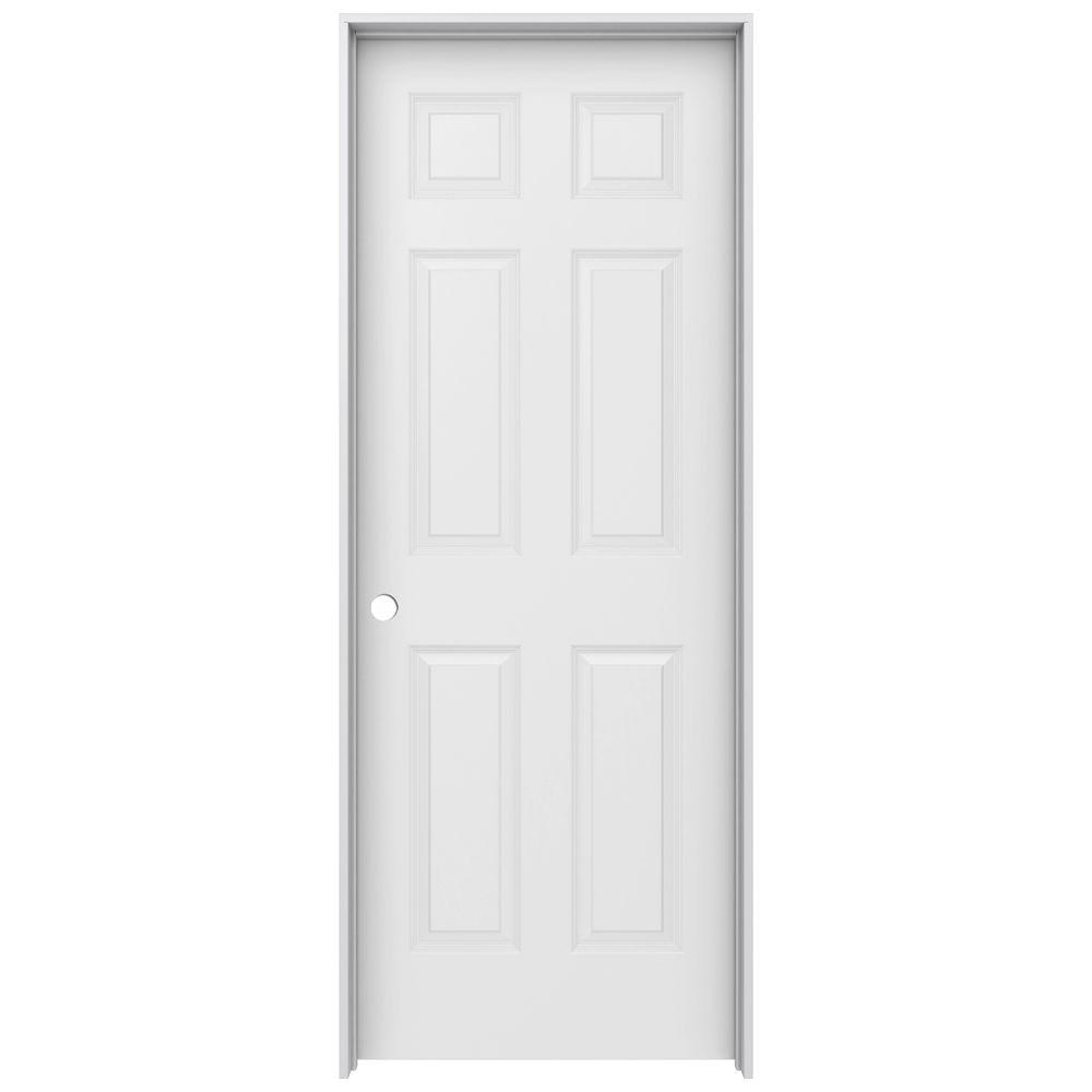 JELD-WEN 30 in. x 80 in. Colonist Primed Right-Hand Smooth Solid Core Molded Composite MDF Single Prehung Interior Door