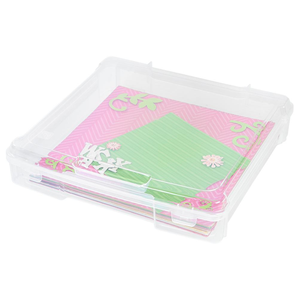 IRIS 12 in. x 12 in. Scrapbook Storage Case in Clear (6-Pack)