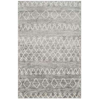 Stone Wash Gray/Beige 4 ft. x 6 ft. Area Rug