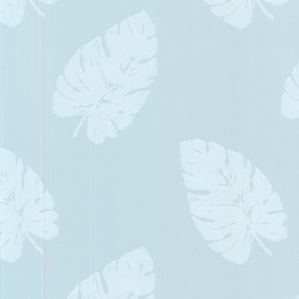 Brewster 8 in. x 10 in. Charlie Ocean Banana Leaf Wallpaper
