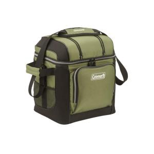 Click here to buy Coleman 30-Can Green Soft-Sided Cooler with Liner by Coleman.