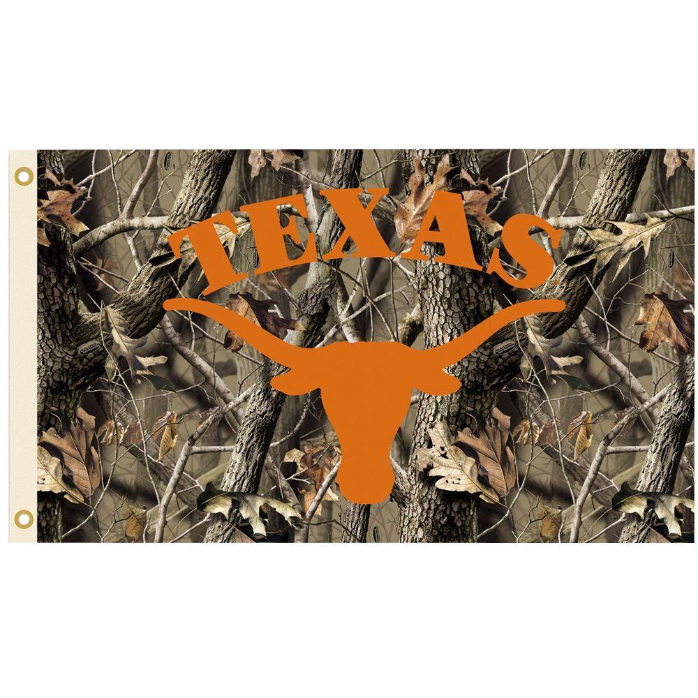 NCAA 3 ft. x 5 ft. Realtree Camo Background Texas Flag