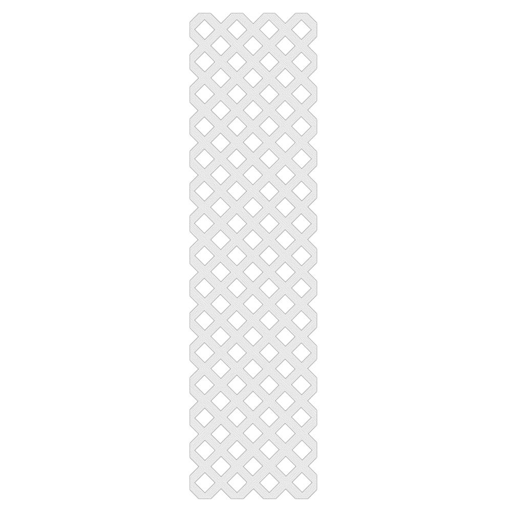 Veranda 2 ft. x 8 ft. White Garden Vinyl Lattice