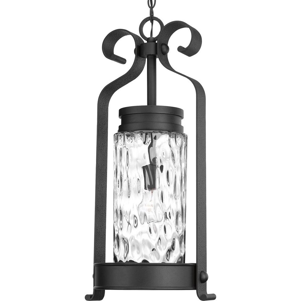 Progress Lighting Hermosa Collection Black 1-Light Outdoor Hanging Lantern