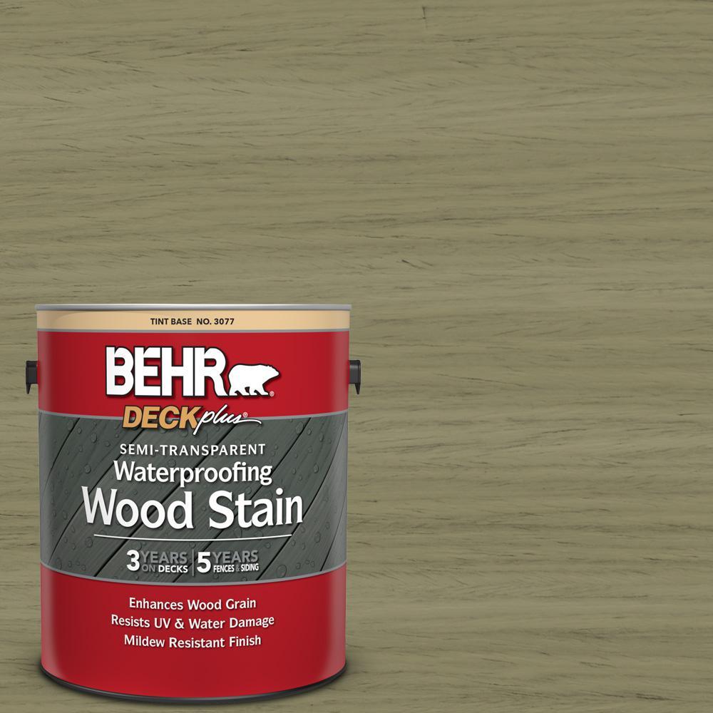 Behr Deckplus 1 Gal St 151 Sage Semi Transpa Waterproofing Exterior Wood Stain