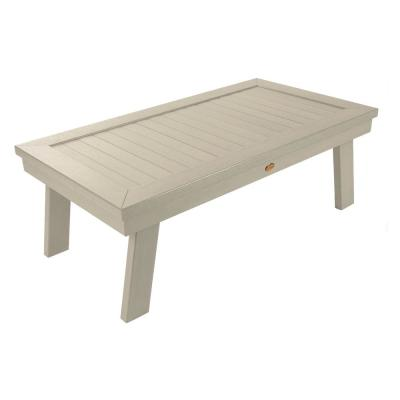 Adirondack Whitewash Rectangular Recycled Plastic Outdoor Coffee Table