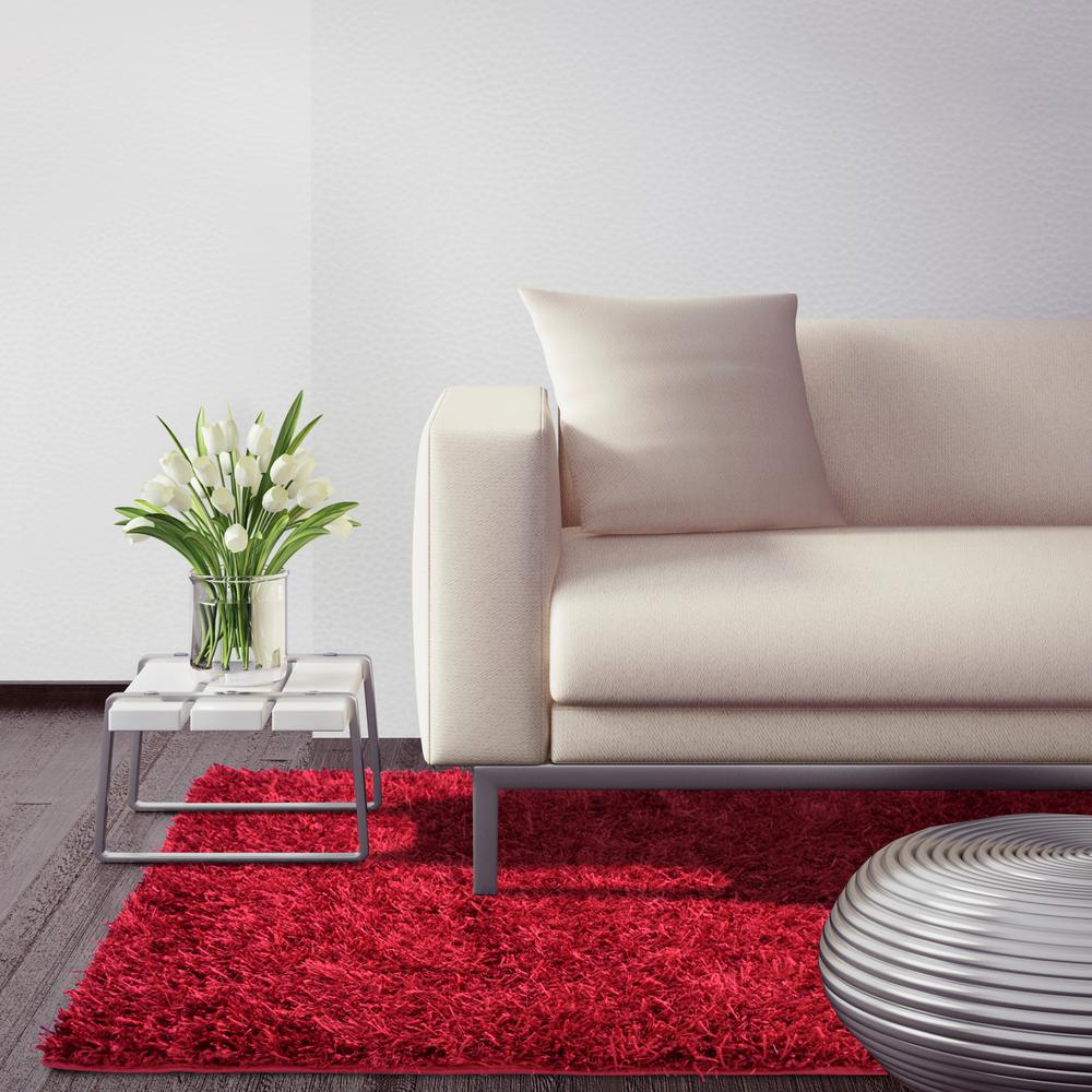 City Sheen Red 4 ft. x 12 ft. Runner