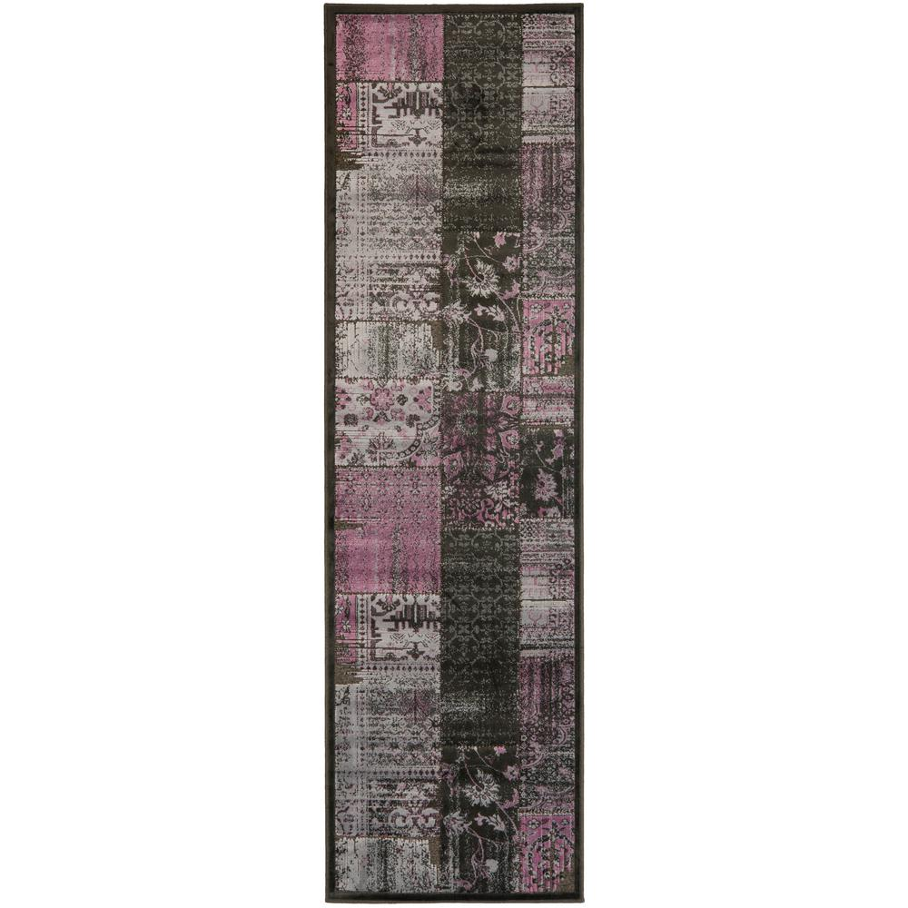 Paradise Charcoal/Multi 2 ft. 2 in. x 8 ft. Runner