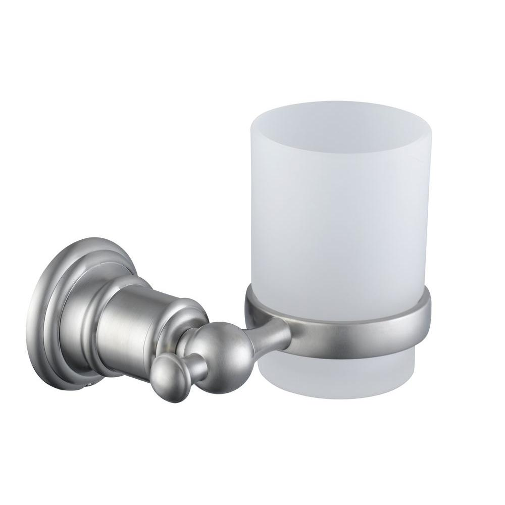 Glacier Bay Estates Wall Mounted Tumbler Holder In Brushed Nickel