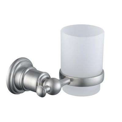 Estates Wall-Mounted Tumbler Holder in Brushed Nickel