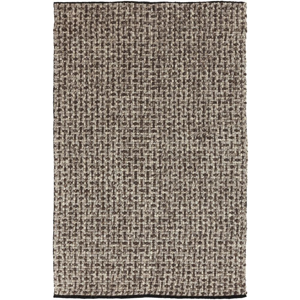 Bagua Chocolate 5 ft. x 8 ft. Indoor Area Rug