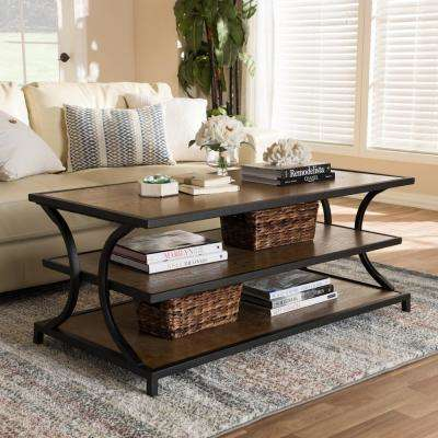 "Lancashire ""Oak"" Brown and Black Coffee Table"