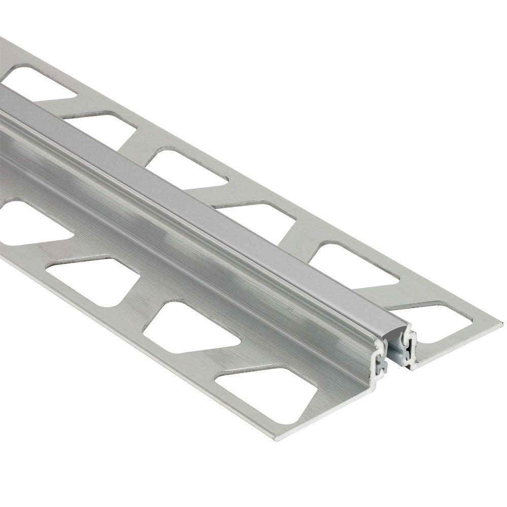 Dilex-AKWS Aluminum with Classic Grey Insert 17/32 in. x 8 ft.