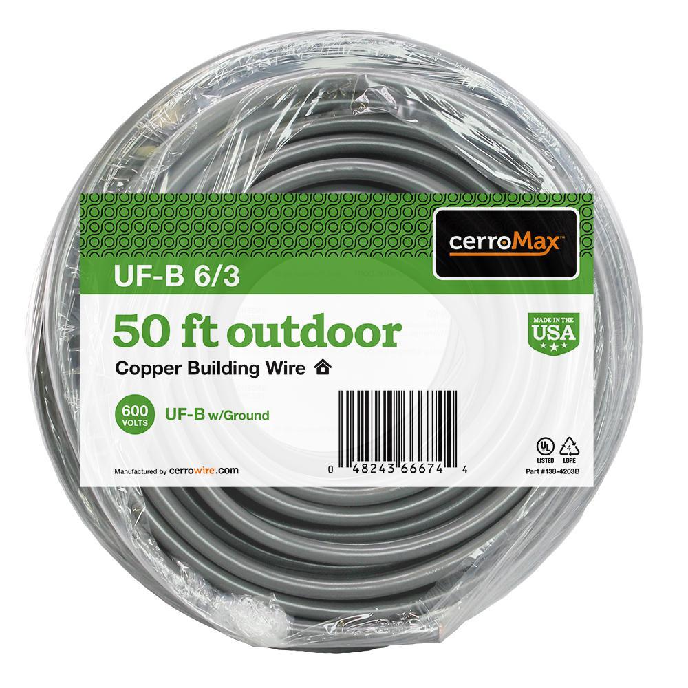 50 ft. 6/3 UF-B Wire