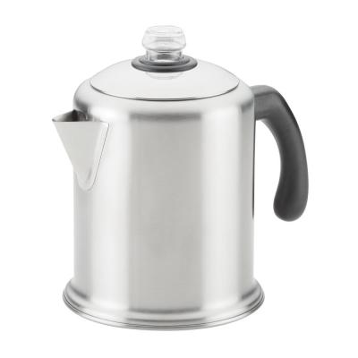 8-Cup Brushed Stainless Steel Coffee Percolator