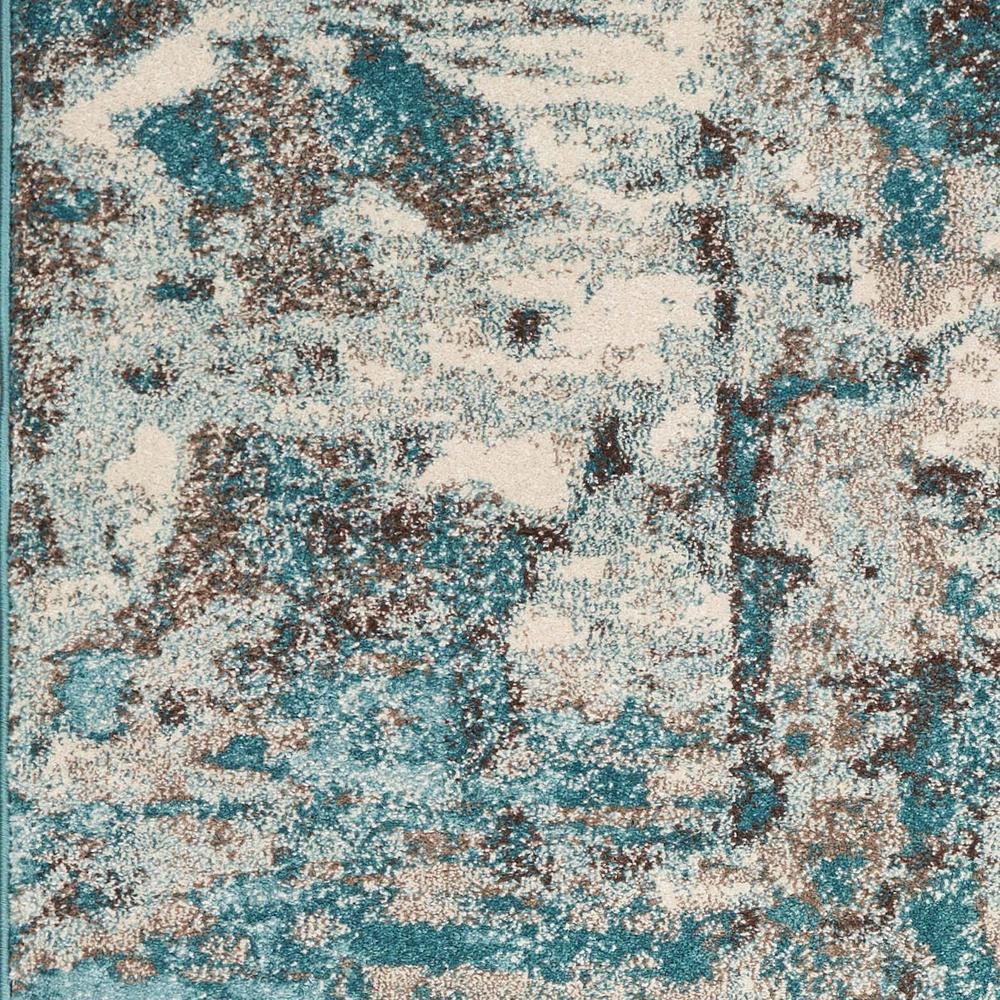Kas Rugs Watercolors Ivory Teal 5 Ft X