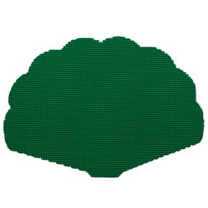 Kraftware Fishnet Shell Placemat in Hunter Green (Set of 12) by Kraftware