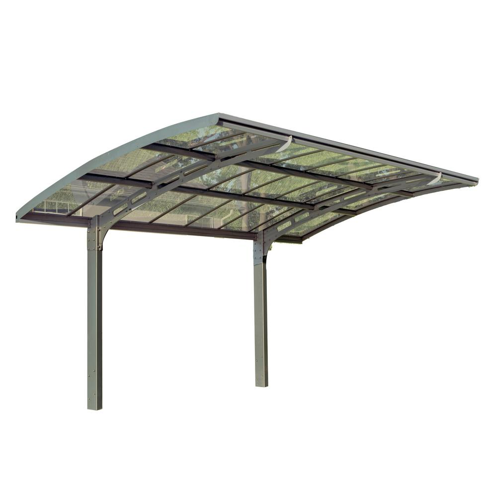 Palram Arizona 5000 Breeze 9 ft  6 in  x 16 ft  3 in  x 9 ft  H Carport  with Solid Clear Polycarbonate Roof Panels