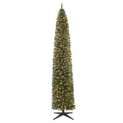 9 ft. Pre-Lit Brighton Pencil Artificial Christmas Tree with 500 Clear Lights